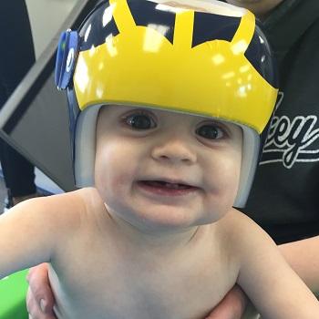 Baby in Helmet
